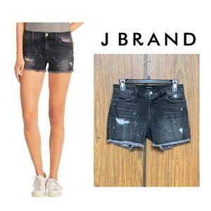 NEW J Brand Black Denim Shorts Mia Vagabond Cutoff
